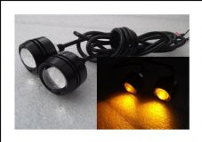 LED Indicators Button bolts projector lens amber led, CNC black case LED x2